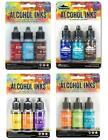 Lot of Tim Holtz Ranger ALCOHOL INK 12 bottles 4 3 pks Lot 475