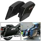 5 Stretched Extended Hard Saddle Bags For Harley Touring Road King 1993 2013
