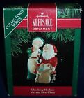 1991 ~ CHECKING HIS LIST ~ Hallmark Ornament  # 6 in Mr. and Mrs. Claus Series