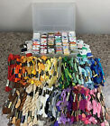 Lot of 225+ Embroidery Floss Cross Stitch Cotton Thread Sewing Skeins Storage
