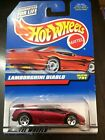 HOT WHEELS 1990 LAMBORGHINI DIABLO RED METALLIC