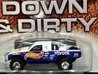 Hot Wheels Toyota Pickup Truck Down  Dirty Offroad 4x4 Lifted Race 3 4 RRs Blue