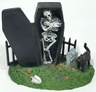 Lemax SPOOKY TOWN GRAVEYARD Halloween Village figure figurine coffin skeleton