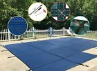 WaterWarden Inground Pool Safety Cover Fits 18 x 36 Blue Mesh Right Step