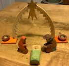 Lovely Antique Emil Helbig Nativity Set East Germany