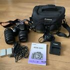 Canon EOS 450D Camera Plus 55-250mm Lens and Case