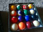 Vintage Aramith Pool Balls Belgian Billiard Ball Complete Set