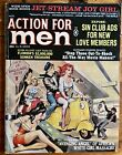 ACTION FOR MEN rare 60s pulp magazine VESPA LAMBRETTA sexy scooter cheesecake