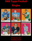 1969 Topps Football Cards 17