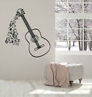 Vinyl Wall Decal Musical Notes Patterns Instrument Guitar Stickers Mural g3545