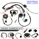 50CC 125CCMini ATV Complete Wiring Harness CDI Stator 6 Coil Pole Ignition Kit