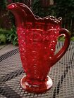 RARE Viking Glass Yesteryear Ruby Pitcher 8 Tall 18 ounces Mint