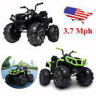 12V Kids Electric 4 Wheeler ATV Quad Ride On Car Toy with 37mph Max Speed BT