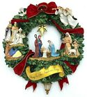 Thomas Kinkade Nativity Wreath Hamilton Collection 16 2005 Lighted Christmas