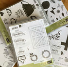 Stampin Up Lightly Used Clear Cling Mount Photopolymer Stamp Bundles