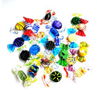 24Pcs Handmade Vintage Murano Style Various Glass Sweets Glass Candy Ornaments