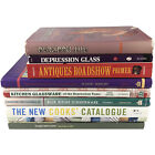 8 Book Research Guide Lot Jewelry Dishes Art Nouveau MCM Depression glass