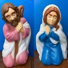 Nativity Blow Mold Mary Joseph Shepherds Hook Holy Family Christmas Decor