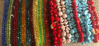 Vintage New Lot 20 Colorful strands of Quality Czech Glass Beads