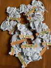 Lot of 14 Elephant  Baby Ornament Little Peanut Grey Christmas Birth Craft Lot