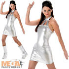 Secret Agent Ladies Fancy Dress Austin Powers 1960s Womens Adults Space Costume