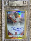 2014 BOWMAN CHROME MOOKIE BETTS AUTO GOLD REFRACTOR 50 BGS 9.5.10!!