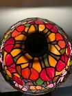 STAINED GLASS SHADE WITH LARGE OPENING TULIPS SHADE ONLY TORCHIERE STYLE