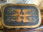 Antique French Hand Painted Wood Shield Prop School Play