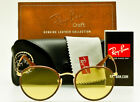 RAY BAN ROUND CRAFT LEATHER RB3475Q 9042 4A Gold Brown Photochromic Yellow