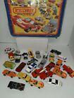 Vintage Hot Wheels Matchbox Assorted Lot of 26 Cars In Vinyl Case
