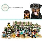 SAVANNASHOPS Dog Nativity Rottweiler Gifts Nativity Sets Dog Lover Gifts