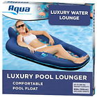 Aqua Luxury Water Lounge X Large Inflatable Pool Float with Headrest Backrest