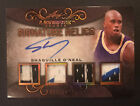 2019-20 Leaf Ultimate Signature Relics Shaquille O'Neal Auto Quad 3CLR JSY Patch