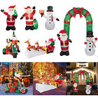 Inflatable Christmas Santa Claus Snowman Airblown Yard Outdoor Decorations Decor