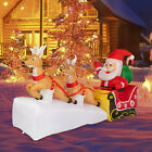 7ft Christmas Inflatable Santa Claus With Double Reindeer LED Lights Yard Decor