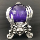 Halloween Fortune Teller Large Purple Glass Crystal Ball LED Motion Sound