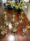 8 Vintage Cordial Sherry Glasses