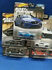 Hot Wheels Premium Fast  Furious Full Force Complete Set Of 5 Real Riders Rare