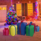 Christmas Gift Boxes Inflatable LED Lights Air Blown Outdoor Indoor Yard Decor