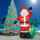 8Ft Christmas Inflatable Santa Claus W Gift Bag Air Blown Outdoor Yard Decor