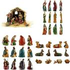 Party Explosions Holy Family 10 Piece Holiday Nativity Set With Stable And Hay
