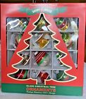 2009 Shiny Brite Radko Christmas Glass Ornament Red Green Bell Tree UFO Classic