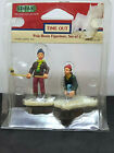Lemax Village Collection TIME OUT Poly-Resin Hokey Figurines Set of 2 Retired