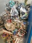 Gemstone Glass MOTHER of PEARL Huge Lot Loose Beads 30+ lbs