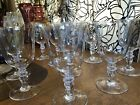 Large Baccarat Wine Provence Glass Set of 11 From France  Height 7 Inch Ex