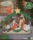 7 Ft HOLY FAMILY NATIVITY SCENE Airblown Lighted Yard Inflatable