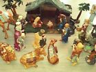 20 Piece Thomas Kinkade Hawthorne Village Nativity Set With Creche VGC