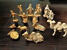 Fontanini Nativity Set 14 Figures 2 Camels Wise Men Mary 1983 Spider Mark
