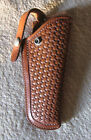 Vintage George Lawrence 120 B Brown Basket Weave Leather Gun Holster K Frame SW