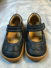 Girls toddlers Livie  Luca Mary Jane style Navy Ruche size 6 gently loved shoes